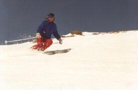 Steil und mit Fahrtwind - als es noch genug Schnee hatte, so dass man im Frühling nach La Rösa fahren konnte
