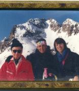 Mein allerliebster Bridgetrainer beim Skifahren auf der Corviglia in hohem Alter