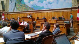 Die Aissicht von meinem Platz im Nationalratssaal